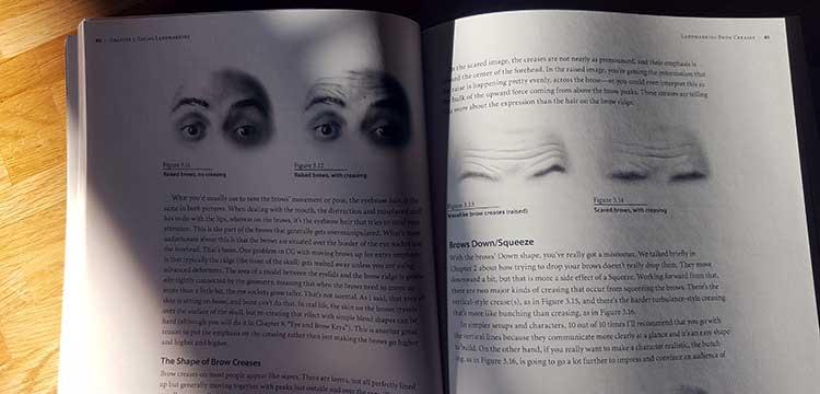 animacja książka twarz